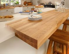Image Result For Adding A Breakfast Bar To An Existing Island Howdens Kitchens Kitchen Inspirations Kitchen Remodel