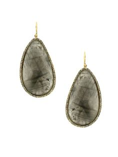 Labradorite Teardrop Earrings...looked like diamond slices for way less.  Love.