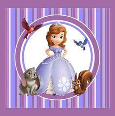 Kit Imprimible Princesa Sofia Candy Bar Invitaciones Deco - $ 65 ...