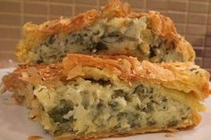 Cheese Pies, Spanakopita, No Cook Meals, Quiche, Food To Make, Food And Drink, Vegan, Cooking, Breakfast