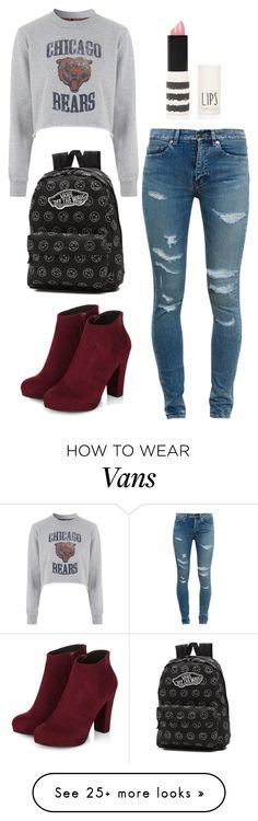 """""""Untitled #758"""" by angiedisa on Polyvore featuring Yves Saint Laurent, Tee and Cake, Topshop and Vans"""