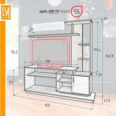 4 Kinds of TV Furniture Tv Cabinet Design, Tv Wall Design, Tv Unit Design, House Design, Tv Unit Furniture, Home Furniture, Furniture Design, Tv Wanddekor, Lcd Units