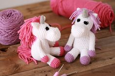 The Small Animal Collection: Unicorn is a slightly modified version of the Small Animal Collection: Horse pattern. Who doesn't need a unicorn or two, or perhaps even three in their life?!!