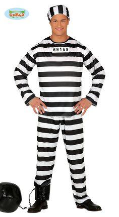Sträflingkostüm Prisoner Jail Prison Men's One Size Online Price, Punk, Best Deals, Prisoner, Fursuit, Jackets, Clothes, Toddlers, Organize
