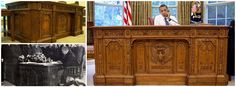 The Resolute desk in the Oval Office was a gift from Queen Victoria and it is built from the timbers of the British Arctic exploration ship HMS Resolute