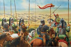 The Visigoths preparing the charge at the Battle of the Catalaunian Fields AD 451. Rome's last great battle