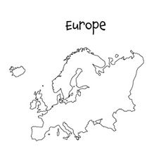 Print a blank map for your Social Studies or Geography class. On this page you'll find maps of the continents, as well as Eurasia. Continents Activities, Montessori Activities, Europe Map Printable, World Map Outline, Africa Drawing, World Map Wall Decor, European Map, Social Studies Worksheets, Maps For Kids
