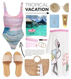 """Bora Bora Travel Outfit"" by glamorous09 ❤ liked on Polyvore featuring Mira Mikati, Bora Bora, Dolce&Gabbana, Mark Cross, Mara Hoffman, Hinge, JADE TRIBE, Sun Bum, ArteMare and Bobbi Brown Cosmetics"
