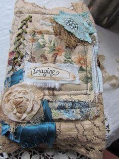 Vintage Fabric Journal - Imagine ~By suziqu