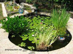30 Garden container ideas   Container pond