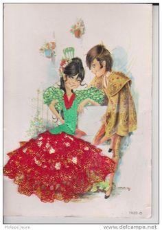 Postales > Temas > Tarjetas de fantasía > Bordados - Delcampe. www.delcampe.es