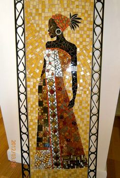 Meg and Mum's: Mosaic African Lady