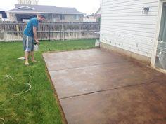 How To Stain A Concrete Patio. Stain Concrete PatiosConcrete StainingAcid  ...