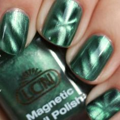 Magnetic nail polish.   paint the polish on, hold a magnet over the fingernail for a second and voila... beautiful!
