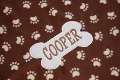 REVERSIBLE Custom Dog Blanket Personalized Pet Blanket Paw Prints dog blanket Embroidered dog blanket Personalized puppy blanket dog gifts by RedBobbinDesigns on Etsy
