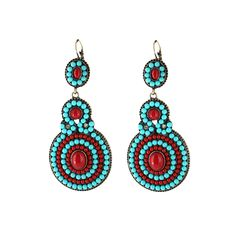Shyanne, E5626, Turquoise/Red