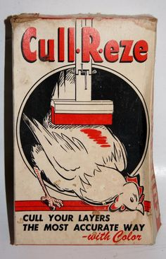 VINTAGE IN ORIGINAL BOX CULL-R-EZE POULTRY HEN CULLING EGG LAYER MARKING SYSTEM