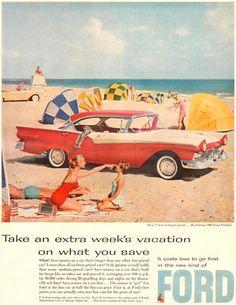 Ford Fairlane 500 Town Victoria 1957 - www.MadMenArt.com | Vintage Cars…