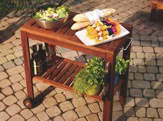 IKEA ÄPPLARÖ outdoor serving cart