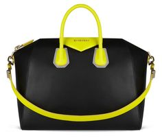 Givenchy black and neon yellow bag