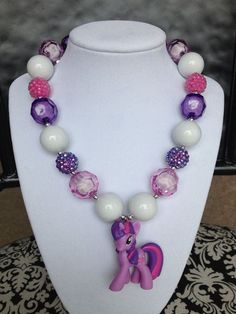 My little pony necklaces, super cute!!!