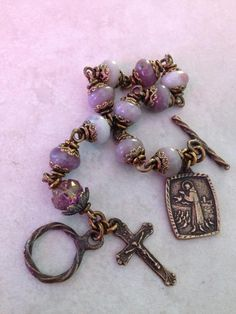 I handcraft heirloom quality gemstone rosaries in classical chain work. The rosary bead parts are vintage reproduction. Holy Rosary, Rosary Catholic, Rosary Bracelet, Rosary Beads, Rwby, Past, Gemstones, Chain, Gallery