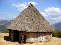 Typical Mambai house in Northern Ainaro.