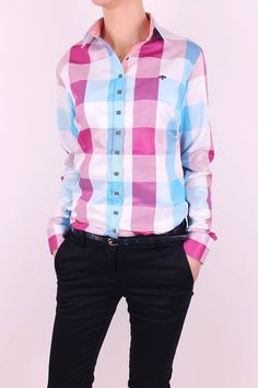 Farebná dámska košeľa oživí Tvoj outfit. Jednoducho zažiariš ;) Shirt Dress, Mens Tops, Shirts, Outfits, Dresses, Women, Fashion, Vestidos, Moda
