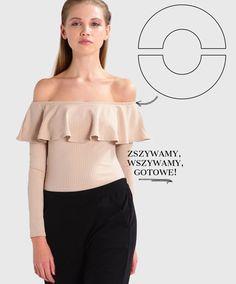 Jak szyć ubrania z naszywaną falbaną z prostokąta? Ponad 10 omówionych przykładów DIY i tutoriali - Joulenka #falbany #szycie