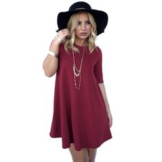 Shock Me Shift Dress In Wine