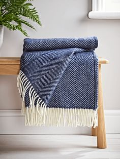 Soft Wool Throw - Navy Blue - Luxury Throws & Blankets - Home Textiles Blue And Cream Living Room, Navy Living Rooms, Blue Rooms, Cream Bedrooms, Navy Bedrooms, Navy Curtains Bedroom, Navy Bedding, Bedding Sets, Blue Curtains Living Room