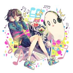 Pixiv Id 7998791, Undertale, Napstablook, Frisk, Androgynous