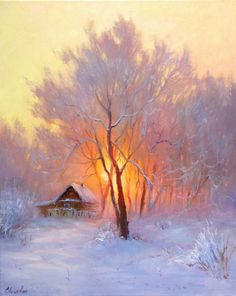 Елена Кацевал Pastel Landscape, Winter Landscape, Landscape Art, Landscape Paintings, Winter Painting, Winter Art, Painting Art, Beautiful Paintings, Beautiful Landscapes