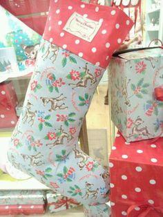Cath Kidston stocking...so cute!! Cath kidston, print, design, vintage, floral, surface design, pattern Christmas Uk, Christmas Makes, Christmas Music, Little Christmas, Christmas Wishes, Christmas Projects, Christmas Stockings, Preppy Christmas, Xmas