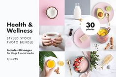 Health & Wellness Photo Bundle by Moyo Studio on Styled stock photos created with wellness entrepreneurs and businesses in mind. Intentionally crafted with a minimalist inspired aesthetic and soft pastel tones to instantly elevate your online presence. Free Stock Photos, Free Photos, Vegan Fitness, Health Fitness, Texture Web, Monthly Photos, Design Typography, Photoshop, Creative Photos