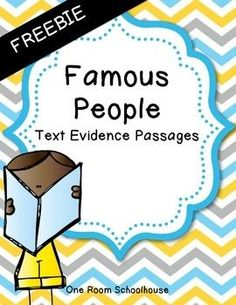 FREE 3 Close Reading Passages - biographies
