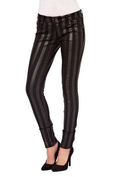 Girls Skinny Jeans Stripe