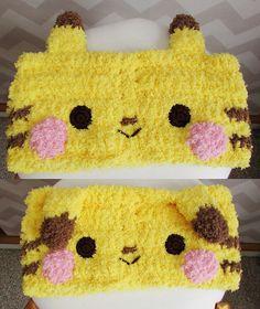 Ravelry: fuzzy pikachu pokemon cowl headband pattern by Hello Happy