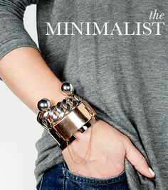 The Minimalist -- a bracelet stacking tutorial/slideshow
