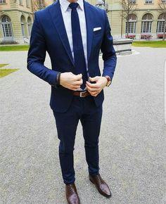 The Blue Suit Collection Blue Suit Outfit, Blue Suit Men, Dark Blue Suit, Men's Blue Suits, Navy Blue, Blue Suit Wedding, Wedding Suits, Mens Fashion Suits, Mens Suits