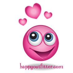 Happy Pink Smiley Face with Hearts