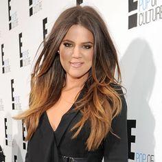 khloe kardashian, hair cant wait til my ombre hair gets this long!!