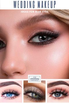 30 Wedding Makeup Ideas For Blue Eyes ❤ We have collected stunning makeup ideas for blue eyes. These makeup looks will make your blue eyes shine and sparkle, no matter what shade they are. #wedding #bride #makeupideasforblueeyes #weddingmakeup