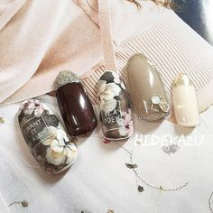 ロマンティックグランジ☆|ネイルデザインを探すならネイル数No.1のネイルブック Fabulous Nails, Gorgeous Nails, Asia Nails, Super Cute Nails, Nail Photos, Japanese Nail Art, Manicure E Pedicure, Flower Nail Art, Classy Nails
