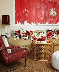 Here are 3 tried-and-true strategies for decorating with red--a color often associated with love, passion, and intensity.