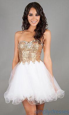 Short Strapless Prom Dress at SimplyDresses.com