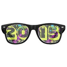 Class of 2015 Seniors Neon Paint Splash Graduation Party Shades
