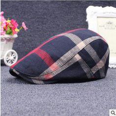 Classic Men Hats Casual Spring Summer Man Hat Travel Outdoor Lattice Male Female  Caps Beret Gorras 27ddf0b1e22c