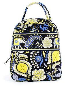 5556adbd87d7 Vera Bradley Ellie Blue Lunch Bunch Lunch Tote Cosmetic Bag Gift New
