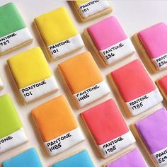 Time for a little #graphicdesign @pantone cookie snack, by @hol_fox via @designsponge #nomnomnom
